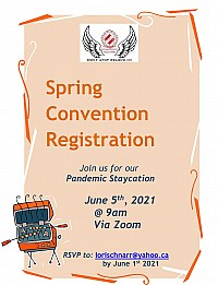 2021 Spring Convention promotional flyer