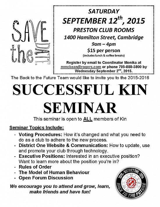 Successful Kin Seminar poster