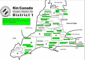 2019-2020 District 1 Kin Where's the Beef Membership Map