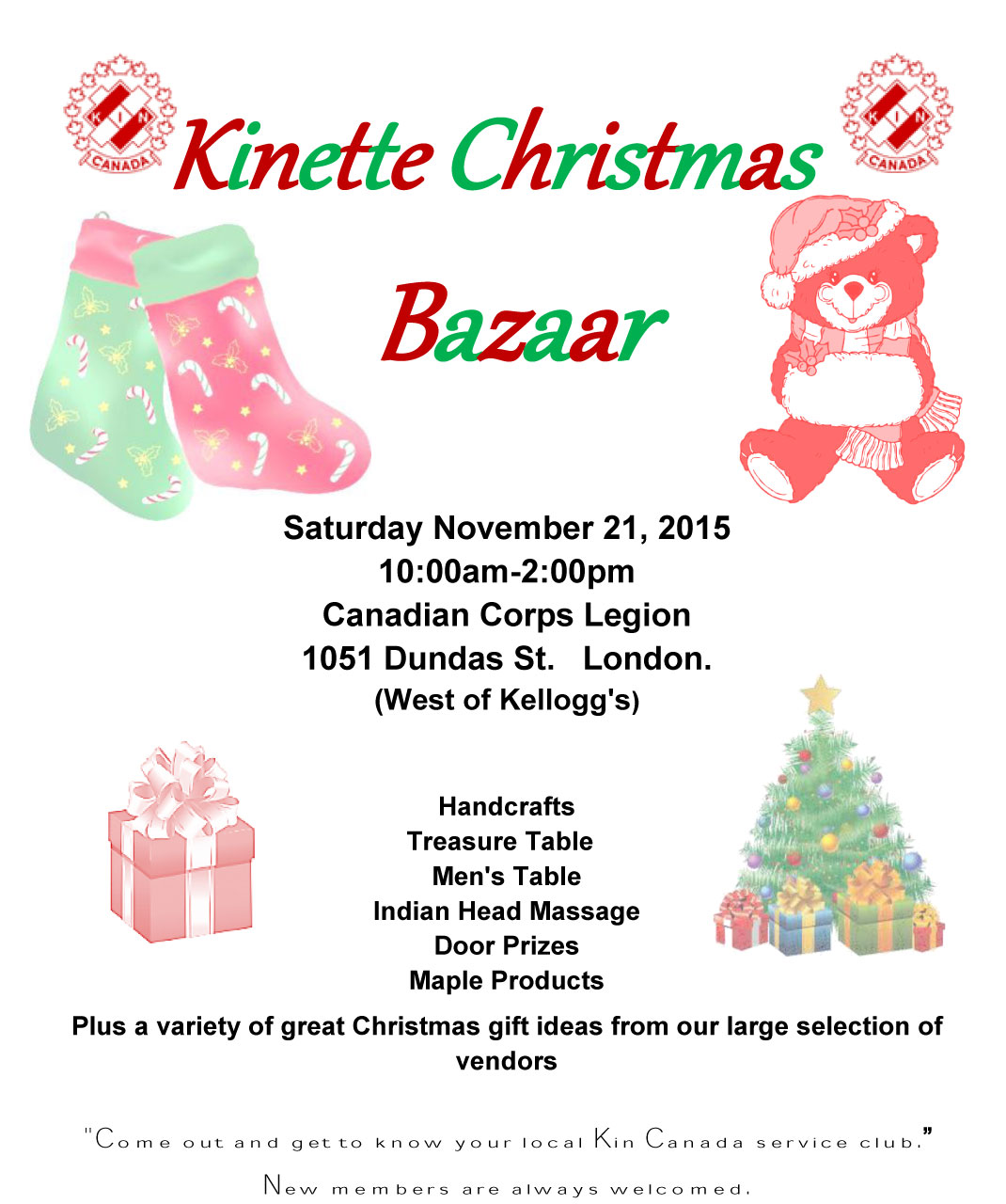 London Kinette Christmas Bazaar - District One Kin