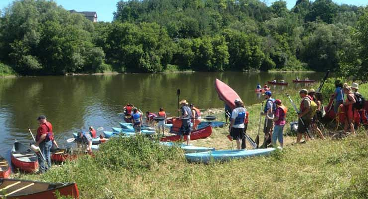 Canoeing the Grand, July 2014