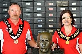 Past Governors Scott Tapley and Francine Burt