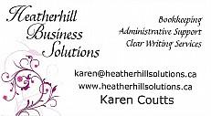 Karen Coutts, Heatherhill Business Solutions