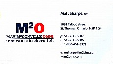 Matt Sharpe - May McConville Omni Insurance Brokers