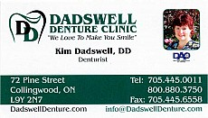 Kim Dadswell, Dadswell Denture Clinic