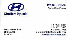 Wade O'Brien - Stratford Hyundai