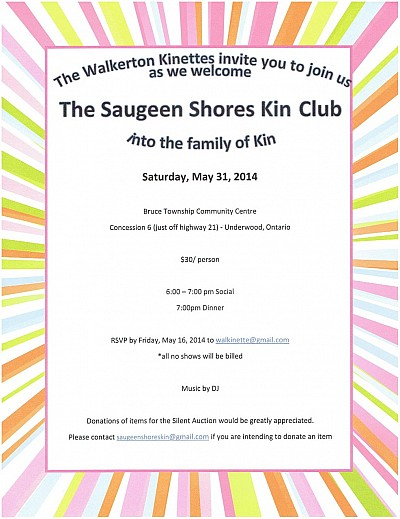 Saugeen Shores Charter Night Invitation